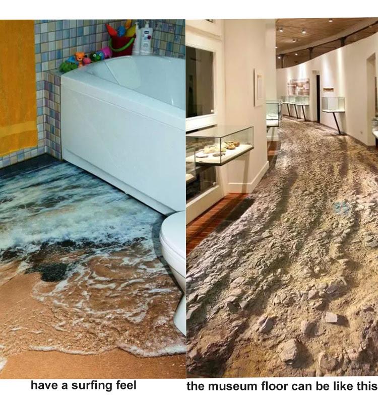 Digital 3d Inkject Picture Bathroom Tile Ceramic 3d Floor ...