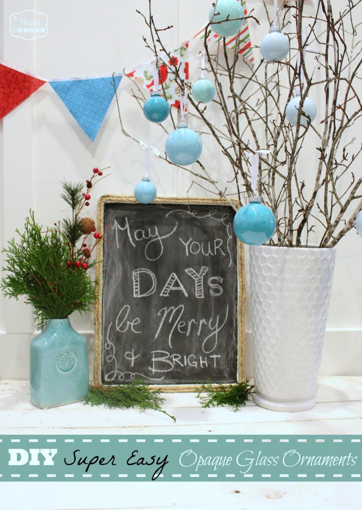 DIY Super Easy Opaque Glass Ornaments at thehappyhousie