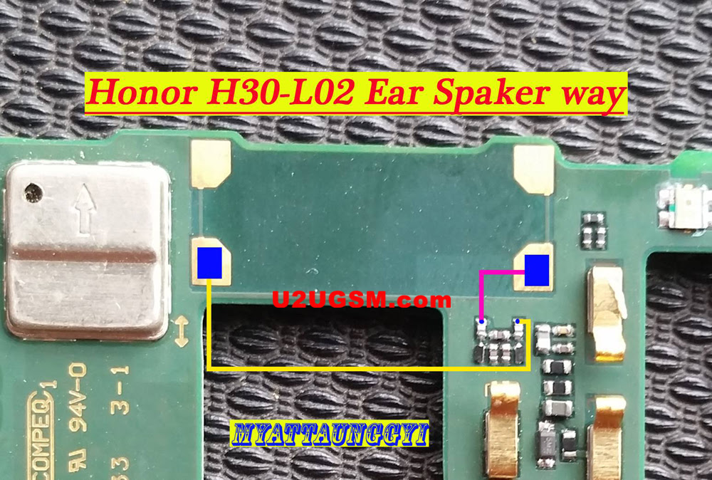 Huawei Honor 3C 4G Earpiece Solution Ear Speaker Problem Jumper Ways