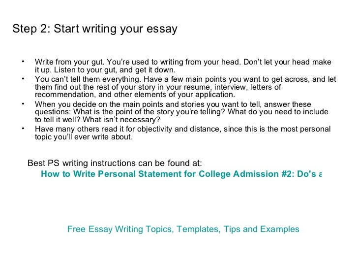 how to write college application essay personal statement