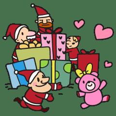 Lineスタンプメリークリスマスの完全一覧 全417種類