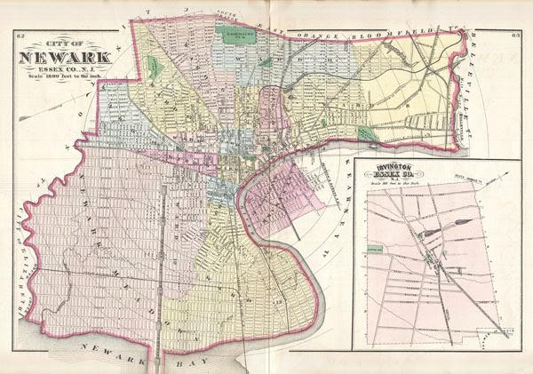 City Of Newark Esco N J Geographicus Rare Antique Maps