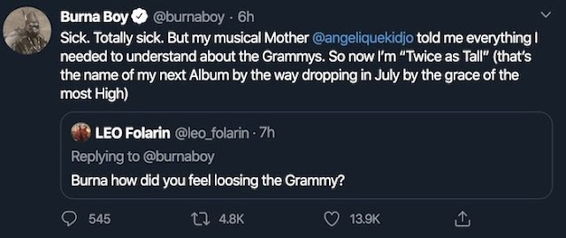 Burna Boy Set Drop New Album This Year (See Title & Release Date)