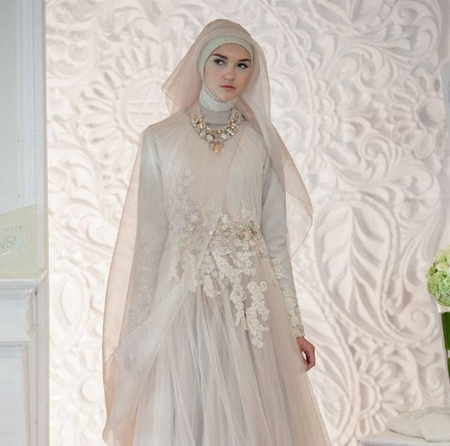 53+ Gaun Pengantin Hijab Simple