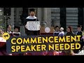 Asking Strangers To Be A Commencement Speaker - Video