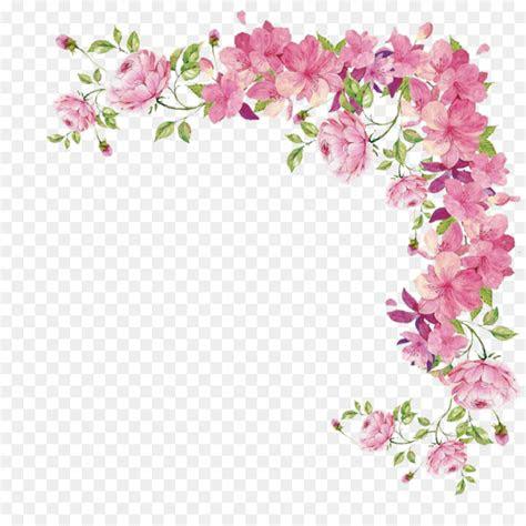 pink flowers rose flower border png