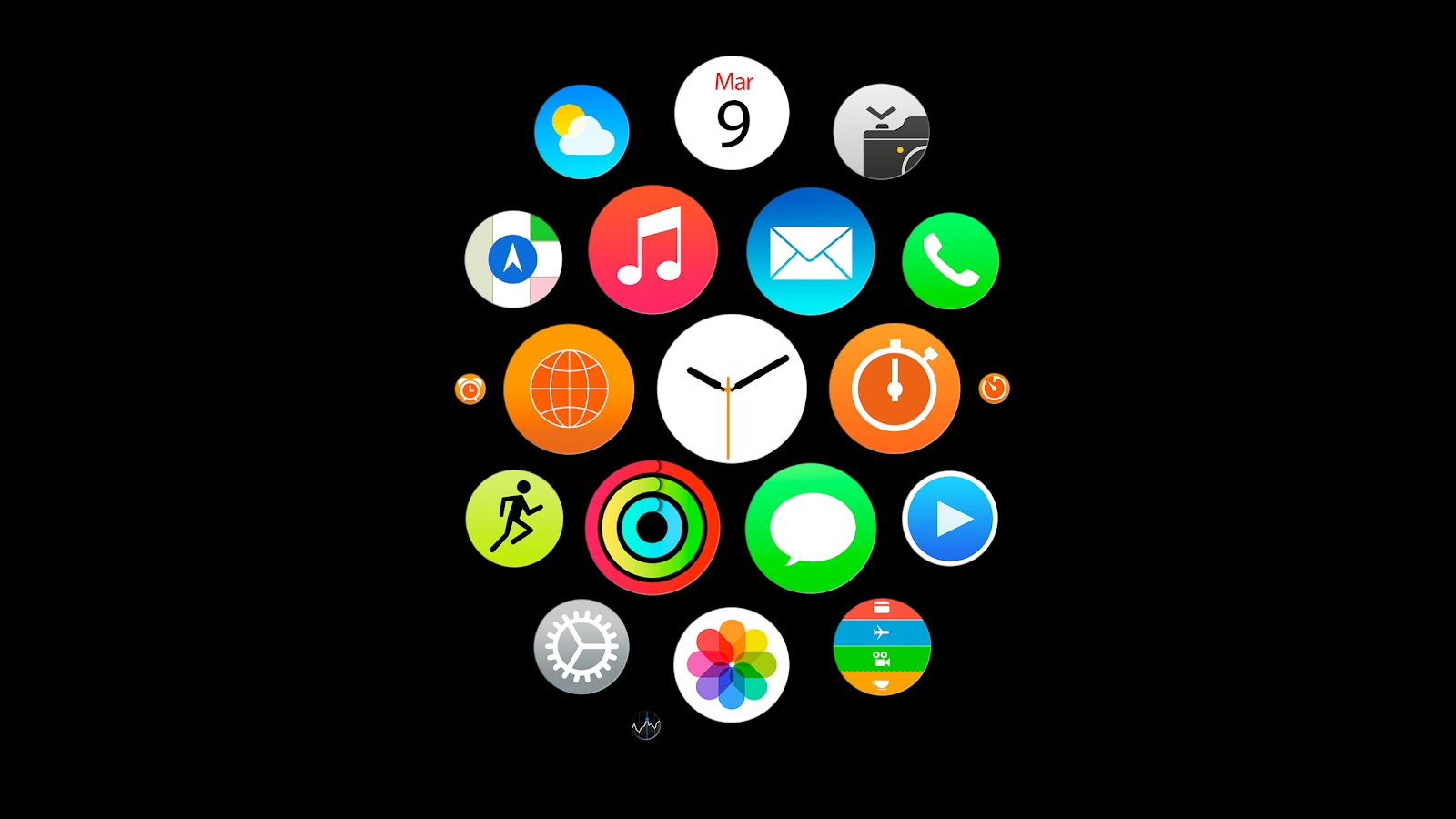 Apple Watch App Icons Wallpapers For Iphone Ipad And Desktop Total Update