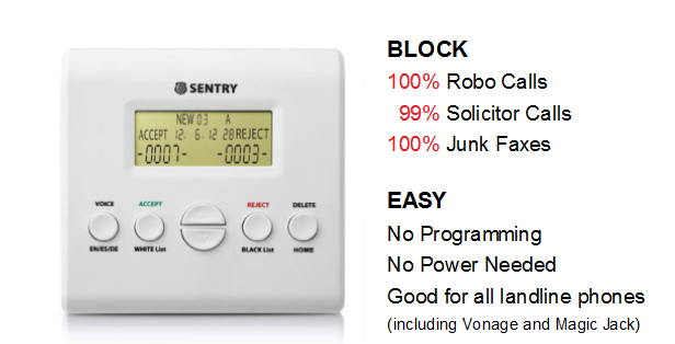 Enter the Sentry Call Block Giveaway. Ends 4/20