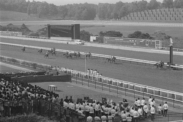 The 1983 Gold Cup race . Image taken from Singapore Press Holdings, 1983.