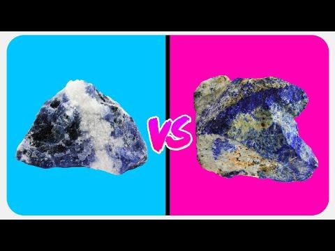 Sodalita vs Lapislazuli - Minerales Parecidos #1 - Diferencias de Textura y Color