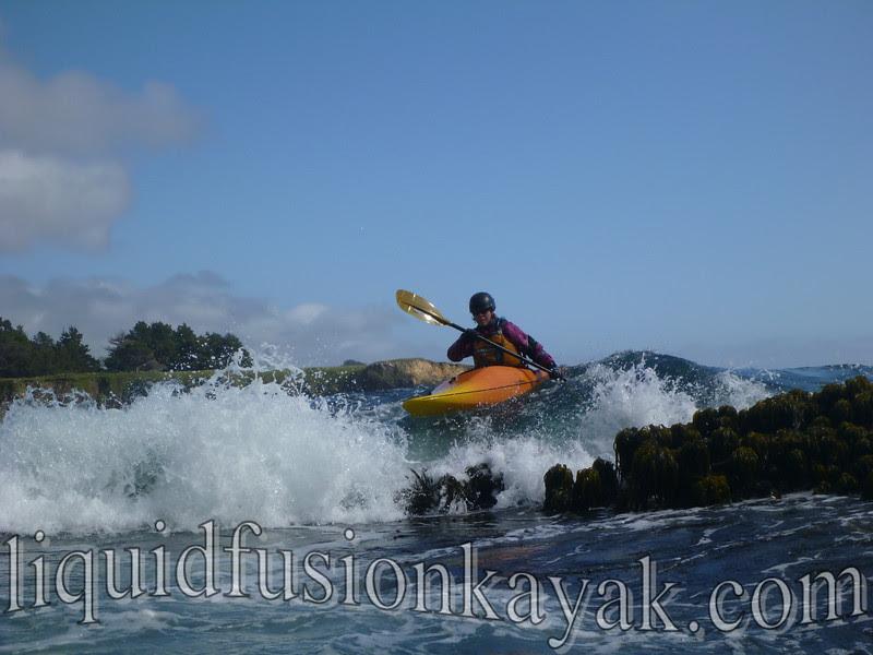 rock gardening, whitewater, ocean, mendocino, kayak
