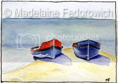 At the Beach ACEO