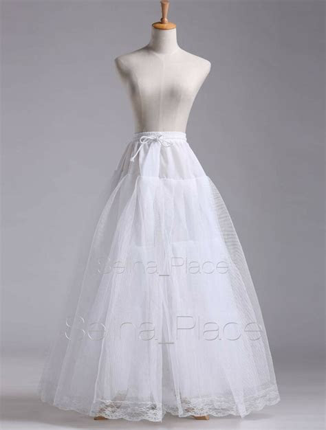 white   hoopless wedding dress bridal gown crinoline