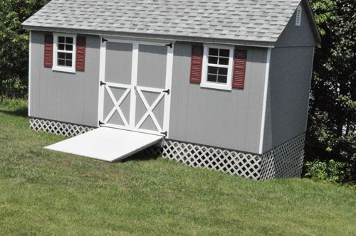 Loren Storage Shed Foundation On A Slope