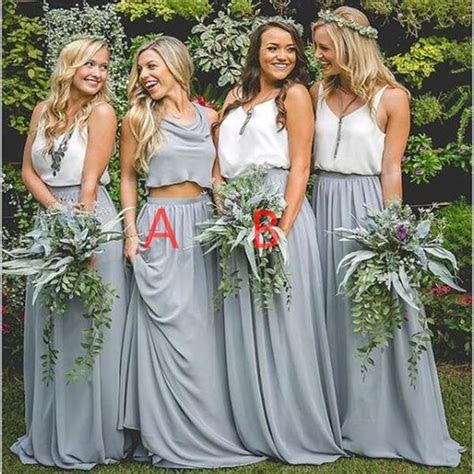 2018 Cheap New Design Popular Simple Two Pieces Bridesmaid