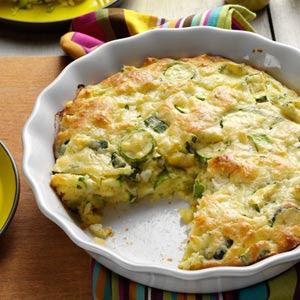 Zucchini Onion Pie | Free Recipe Network