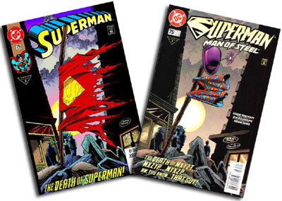 Superman v. 2 #75 and Superman: The Man of Steel #75