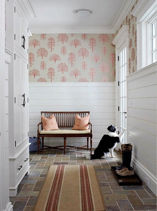 horizontal bead board...mudroom inspiration