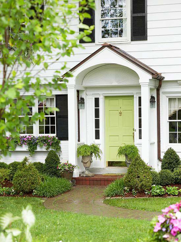 25 Eclectic Front Doors With Pastel Colors | HomeMydesign