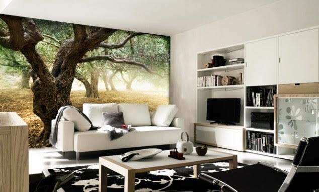 Home Decoration Ideas Wallpaper Designs For Living Room Pretty