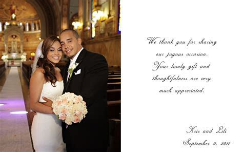 Wedding Thank You Wording   Size : Thumbnail