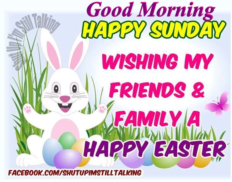 Good Morning Happy Sunday Wishing My Friends A Happy Easter Pictures