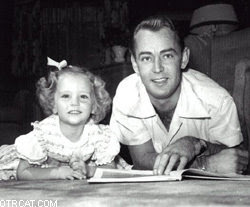 Alan Ladd with Daughter Alana