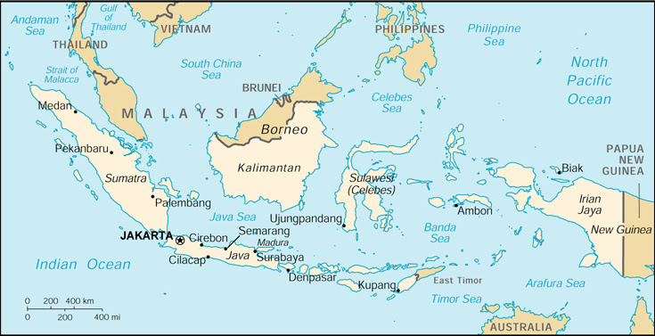 Where is jakarta on a world map cyndiimenna maps of indonesia small large gumiabroncs Image collections