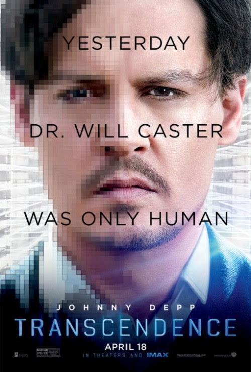 poster for Transcendence starring Johnny Depp
