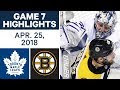 toronto maple leafs vs boston bruins highlights