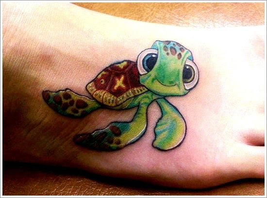 Cute Turtle Tattoo On Foot Tattoomagz
