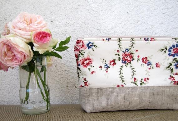 Aroma Garden - Clutch purse, Cosmetic bag, Zipper pouch