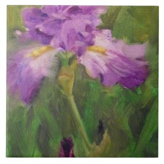 Frilly Violet Iris Tile by Margaret Aycock Designs