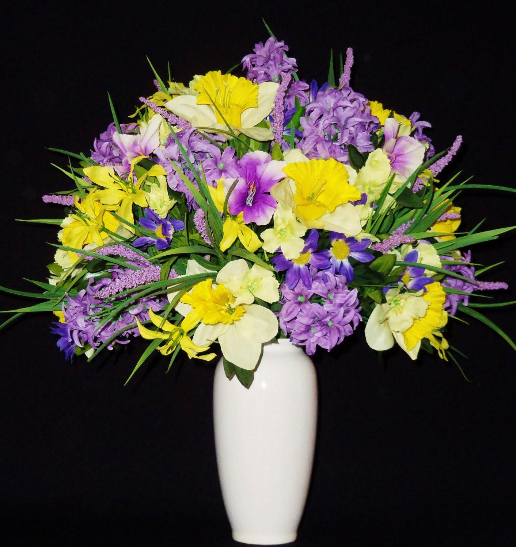 Silk Flower Arrangement Lavender Hyacinth \u0026 by BeautyEverlasting