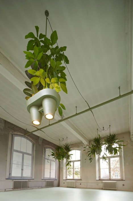 Roderick Vos designs combined plant pots, lighting and power sockets