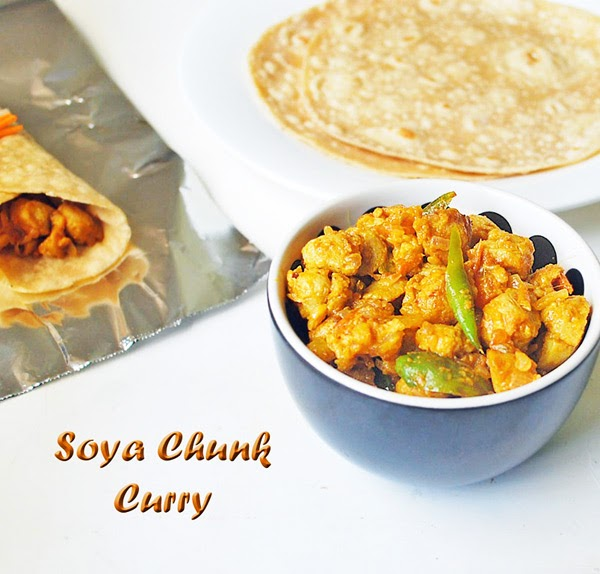 how to make soya chunks curry