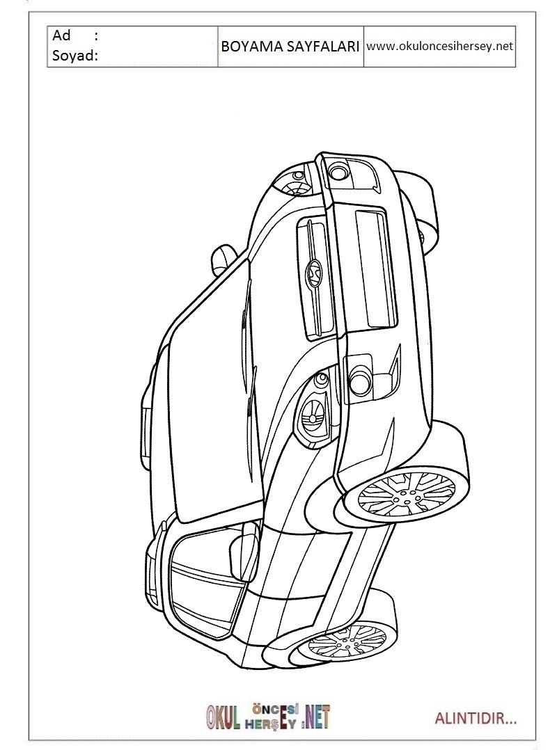 Hyundai Boyama Sayfaları