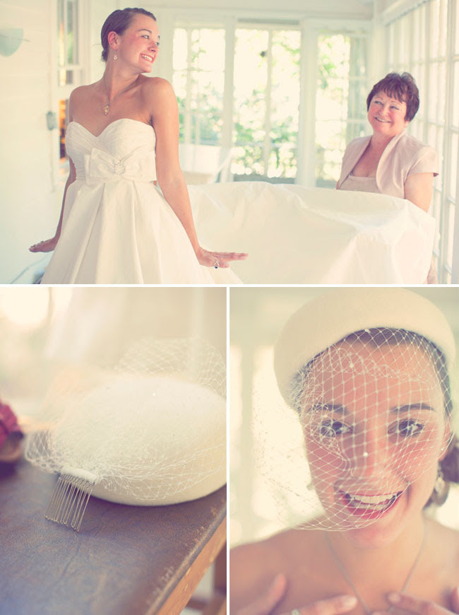 bride with a hat