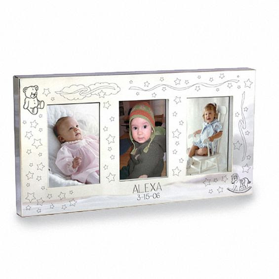 Silver Plated Engraved Baby 2 X 3 Picture Frame 2 Lines