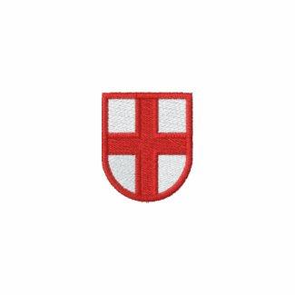England Embroidered Fleece Hoodie Jacket zazzle_embroideredshirt
