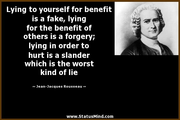 Lying To Yourself For Benefit Is A Fake Lying For Statusmindcom