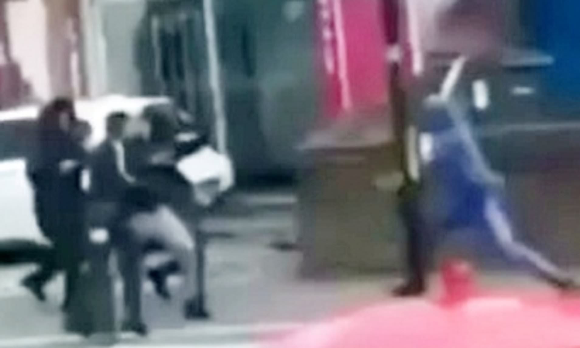 Hooded thugs armed with machetes chase man carrying blade in residential street in Birmingham