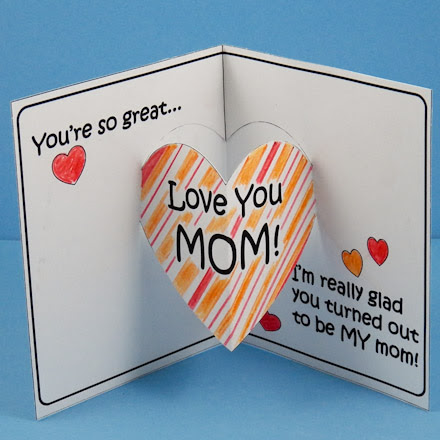 Make Mothers Day Pop Up Card Mothers Day Crafts Aunt Annies