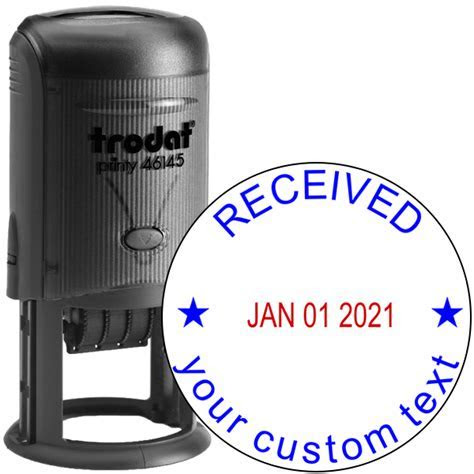 Custom Received Round Dater Stamp   Simply Stamps