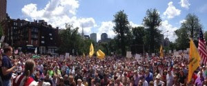 Anti-illegal immigration rally in Boston on July 26.  /Twitter/Marc Lombardo