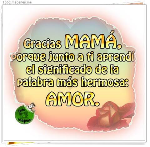 Imagenes De Gracias Mama Porque Junto A Ti Aprendí El Significado De