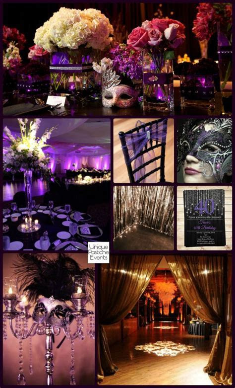 Moonlight Masquerade Ball in Black Purple and Silver #