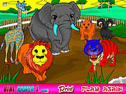 Jogar Zoo coloring game Jogos