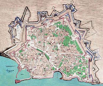 χάρτης με το ενετικό ηράκλειο