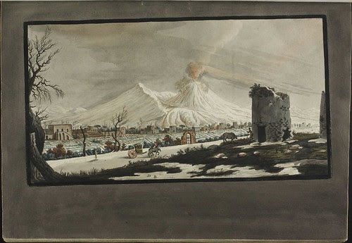 Plate 5, lava eruption on Mt. Vesuvius